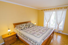 Yellow Master Bedroom Royalty Free Stock Image