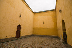 Yellow mausoleum in Meknes Royalty Free Stock Image