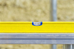Yellow measure spirit level Stock Image