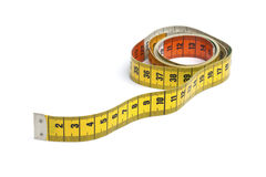 Yellow measure tape Stock Images