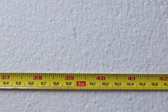 Yellow Measure Tape Royalty Free Stock Images