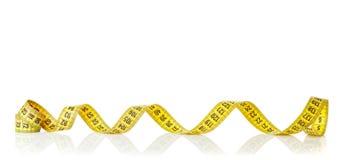 Yellow measure tape Royalty Free Stock Photo