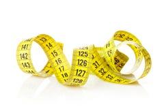 Yellow measure tape Stock Image