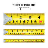 Yellow Measure Tape On White Background Vector Royalty Free Stock Photo