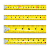 Yellow Measure Tape On White Background Vector Royalty Free Stock Photos