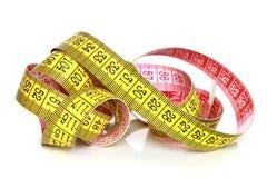 Yellow measuring tape Royalty Free Stock Photo