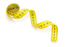 Yellow Measuring Tape Royalty Free Stock Images