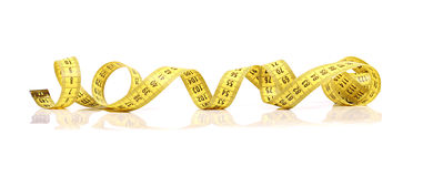 Yellow measuring tape Stock Images