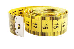 Yellow measuring tape Stock Photography