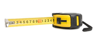 The yellow measuring tape Stock Photo