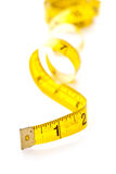 Yellow measuring tape Stock Photos