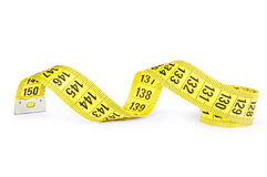 Yellow measuring tape Stock Photo