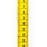 Yellow measuring tape isolated Royalty Free Stock Photos