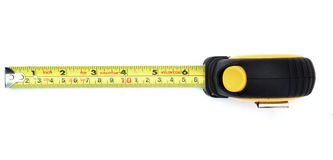 Yellow measuring tape from top Royalty Free Stock Photo