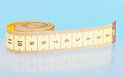 Yellow measuring tapes Royalty Free Stock Photography