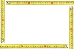 Yellow measuring tool picture frame Stock Images