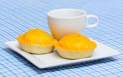 Yellow meat pie Stock Images