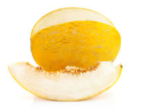 Yellow melon with cut Royalty Free Stock Image