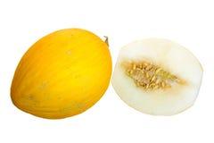 Yellow melon cut Stock Photos