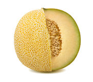 Yellow melon cut from whole isolated stock images