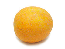 Yellow melon, isolated Royalty Free Stock Photo