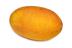 Yellow melon isolated on white background Royalty Free Stock Photography