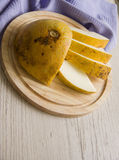 Yellow melon rich in vitamins Royalty Free Stock Image