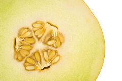 Yellow melon sliced with core in close up Stock Photography