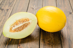 Yellow melon Royalty Free Stock Image