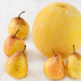 Melon with pears Royalty Free Stock Photos