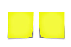 Yellow memo stick Stock Photography
