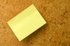 Yellow memo stick. Stock Photography