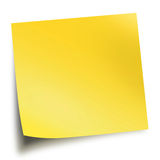 Yellow memo stick isolated on white background Royalty Free Stock Image