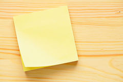 Yellow memo sticker Royalty Free Stock Photo