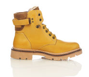 Yellow men boot Stock Image