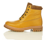 Yellow men boot Royalty Free Stock Images