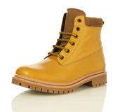 Yellow men boot Royalty Free Stock Photo