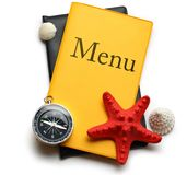 Yellow menu book Stock Image