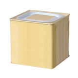 Yellow metal box Stock Images