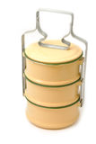 Yellow metal carrier tiffin Royalty Free Stock Images