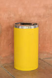 Yellow metal cylinder bin Stock Photography