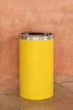Yellow metal cylinder bin Stock Photography