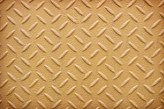 Yellow metal diamond plate pattern background. Royalty Free Stock Photos