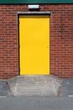 Yellow Metal Door stock photos