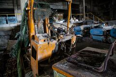 Yellow Metal Equipment Royalty Free Stock Images