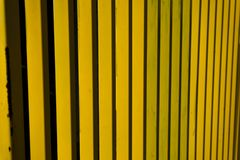 Yellow metal fence abstract stripes Stock Photography