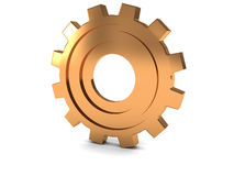 Yellow metal gear wheel Royalty Free Stock Image