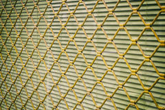 Yellow metal grating Royalty Free Stock Photography