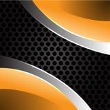 Yellow metal on gray circle mesh vector. Yellow metal on gray circle mesh design background vector illustration Stock Photography