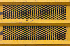 Yellow Metal Grill Texture Stock Images